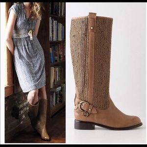 [Anthropologie] Schuler & Sons Woven Riding Boots